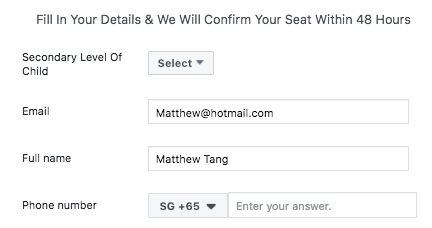 Facebook Lead Ad Form Autofill Feature