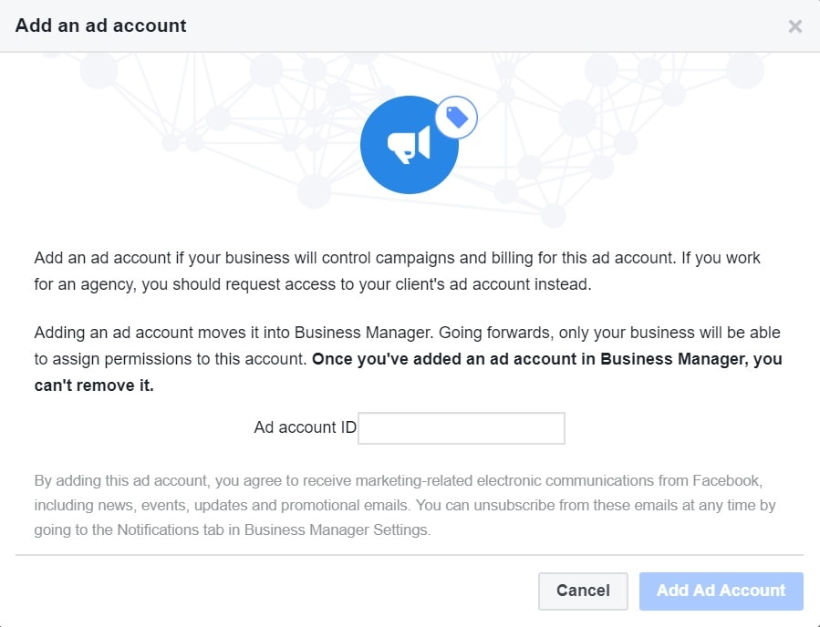 Add Existing Facebook Ad Account