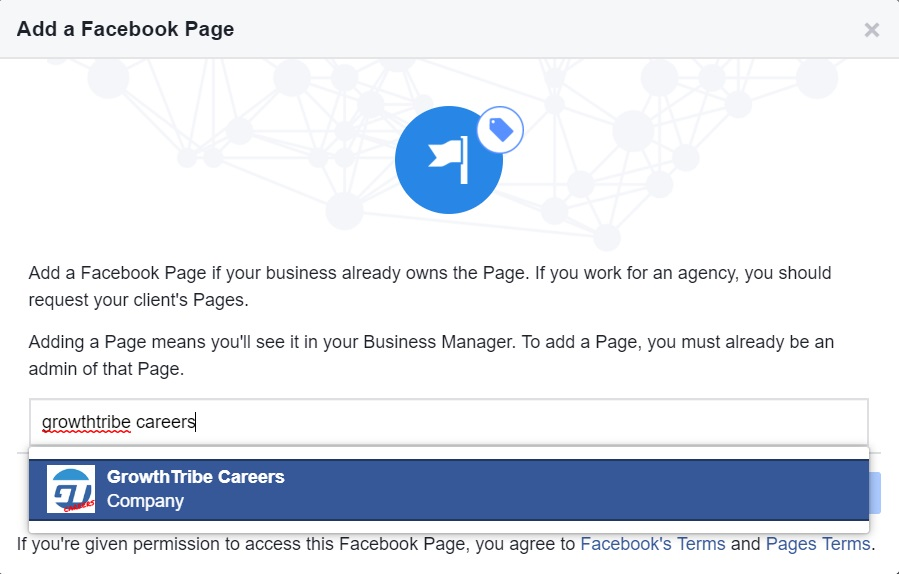 Add Existing Facebook Page
