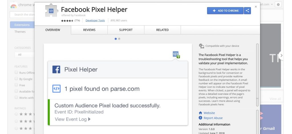 Add Facebook Pixel Helper To Chrome