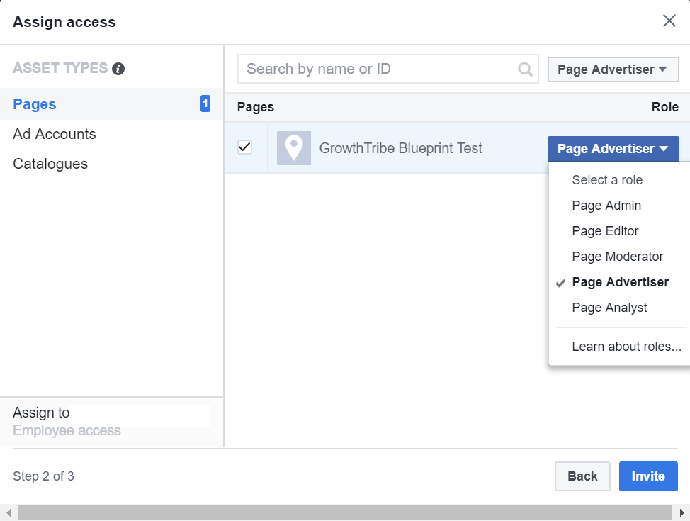 Assign Access On Facebook Business Manager