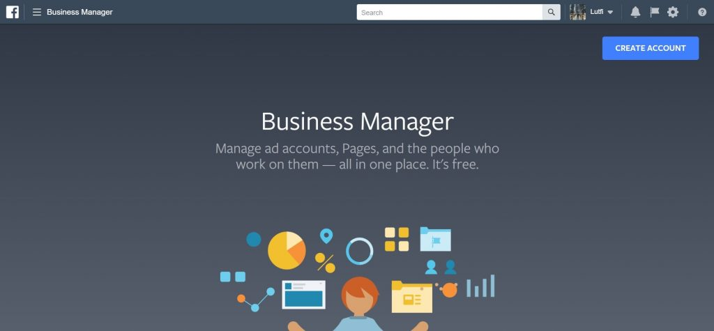 Create Facebook Business Manager Account Page