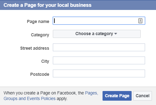 Create Facebook Page For Your Local Business