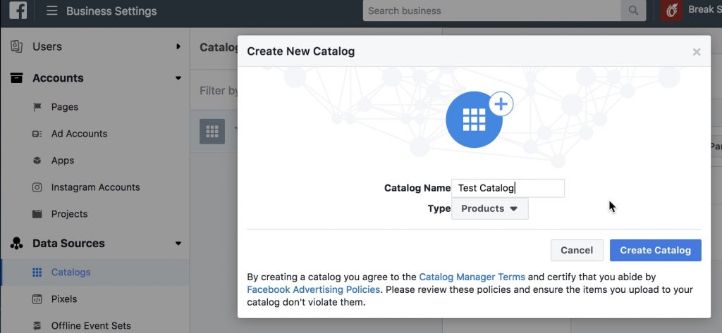 Create Facebook Product Catalog