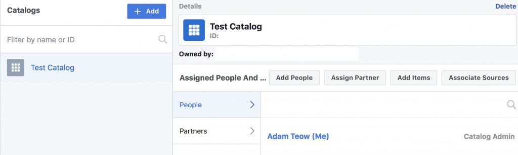 Created Facebook Product Catalog
