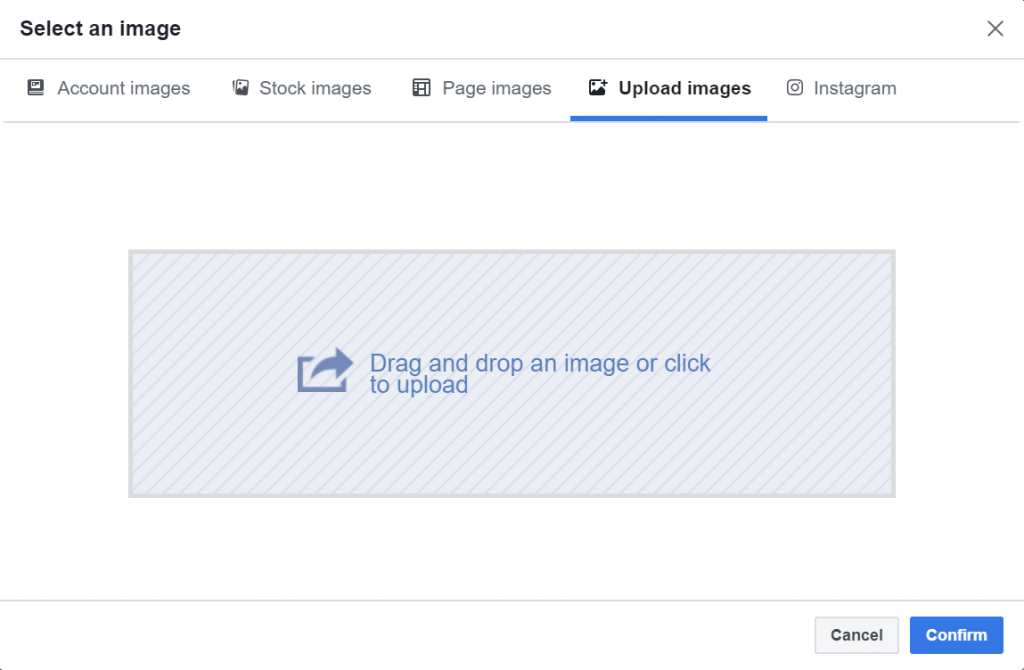 Facebook Ads Manager Upload Image