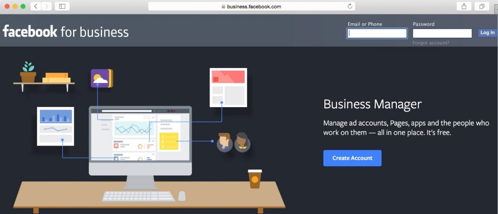 Facebook Business Manager Log In Page