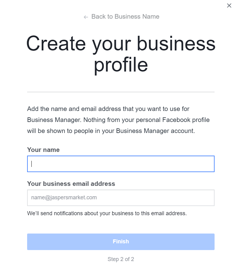 Facebook Create Business Profile