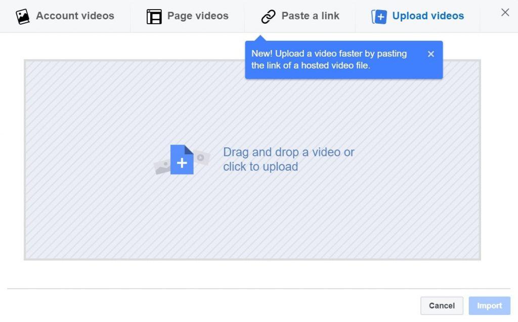 Facebook Edit Ad Upload Video