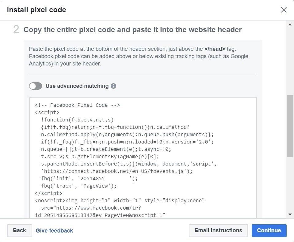 Facebook Pixel Base Code