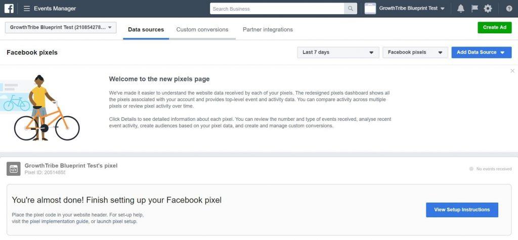 Facebook Pixels Page
