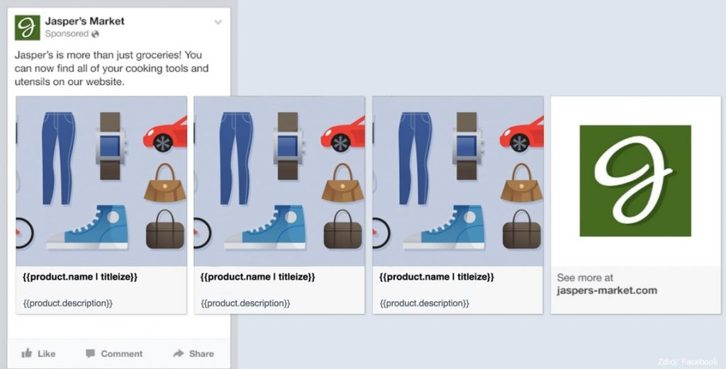 Facebook Product Catalog Example
