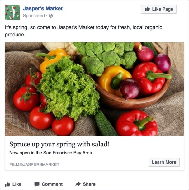 Facebook Single Ad Image Example