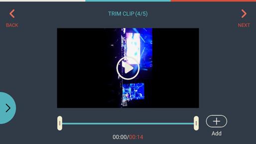 FilmoraGo Add Video