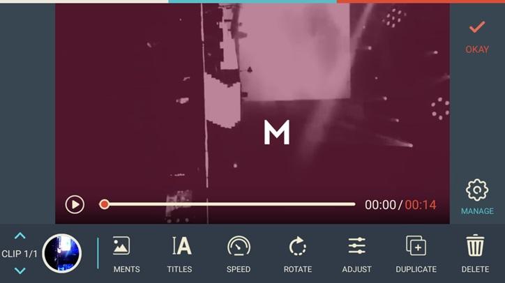 FilmoraGo Adjust Video 1