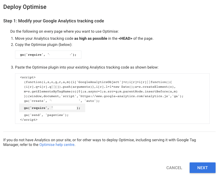 Modify Google Analytics Tracking Code