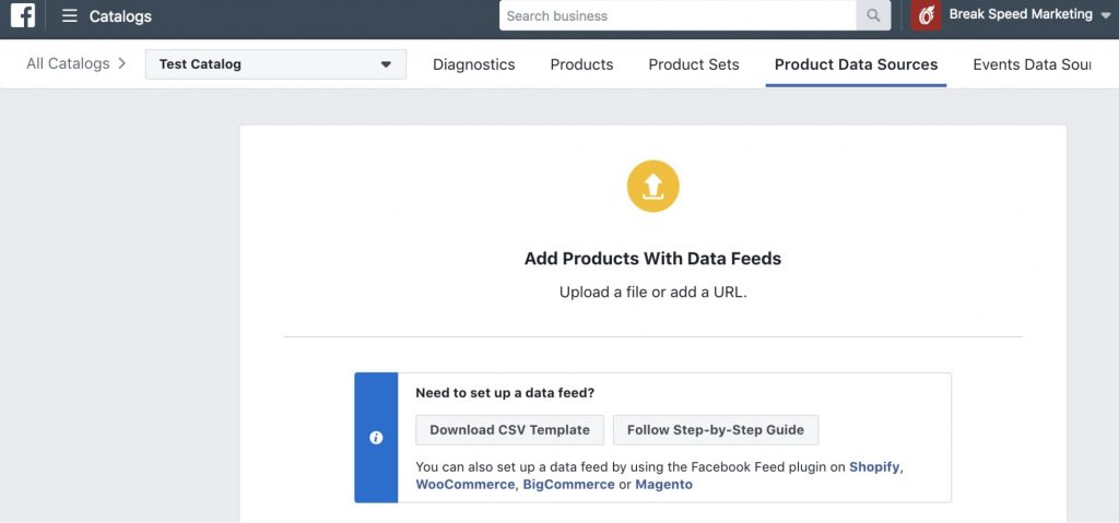 Set Up Facebook Product Catalog