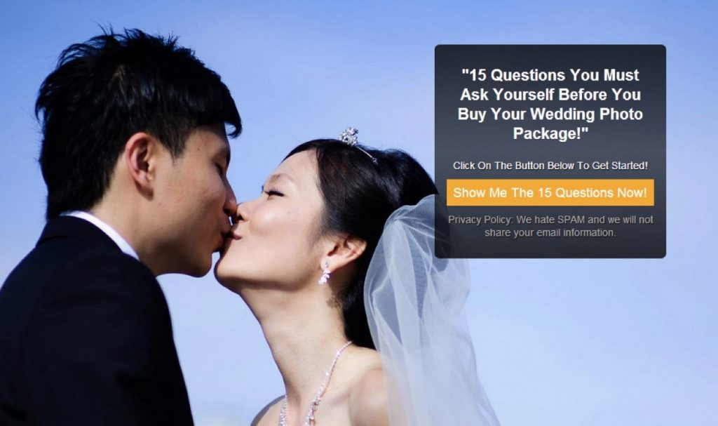 Wedding Photo Package Quick Tips Example