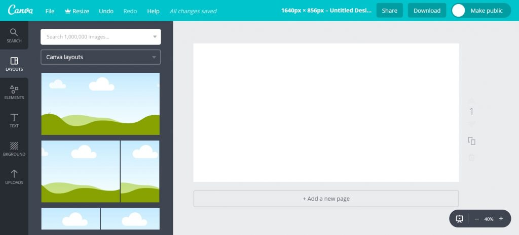 Canva Customised Dimension Workspace