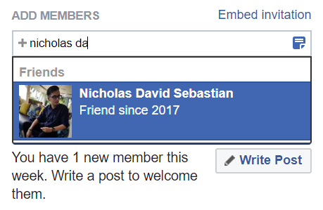Facebook Group Add Member Example