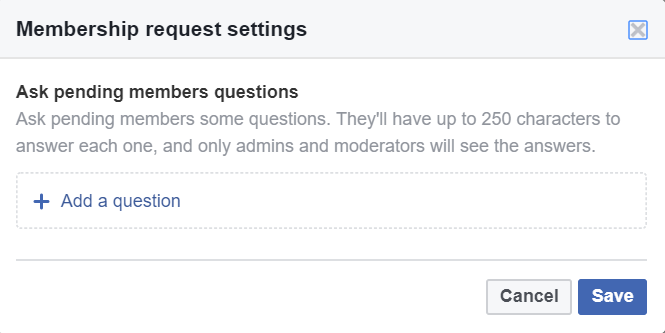 Facebook Group Ask Questions