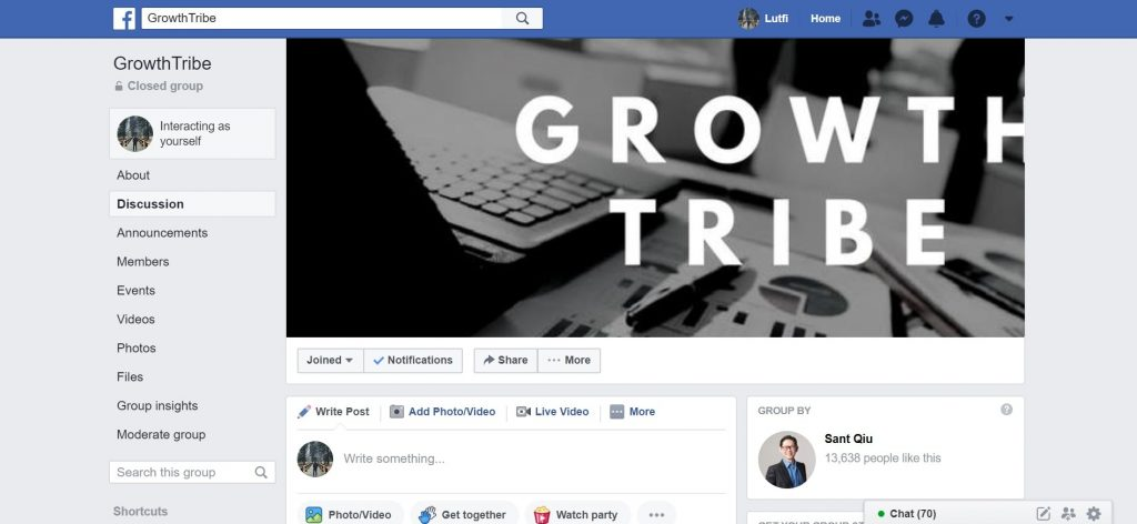 GrowthTribe Facebook Group