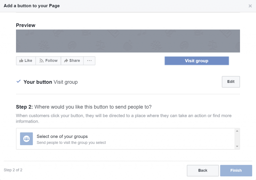 Select Facebook Group To Link