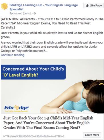 EduEdge Facebook Ad