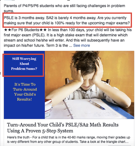 Facebook ad for Math Accelerator