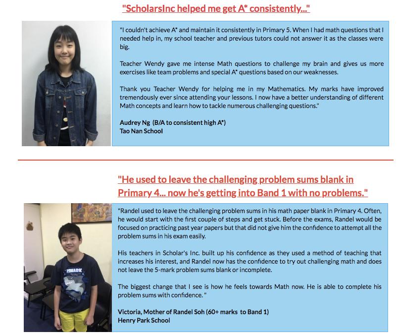 Scholars INC testimonials